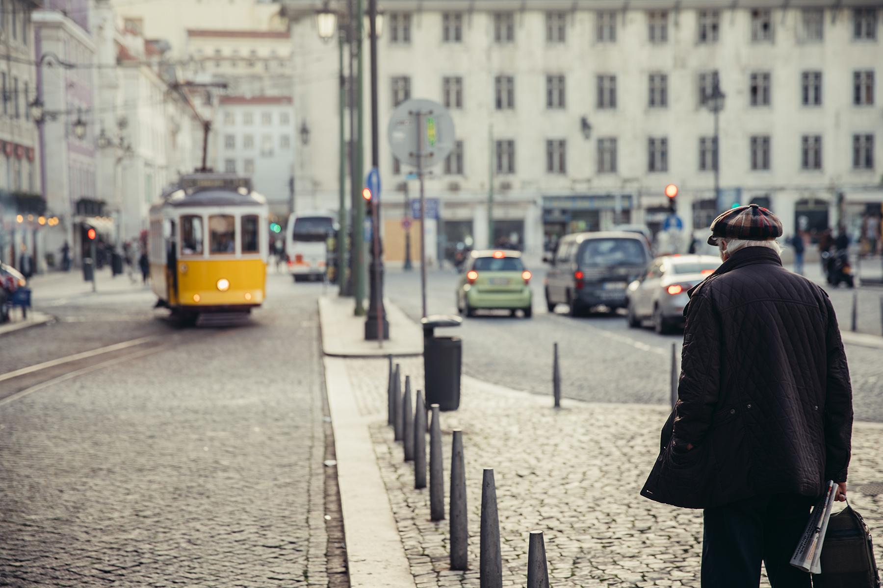 Elderly man in Lisbon