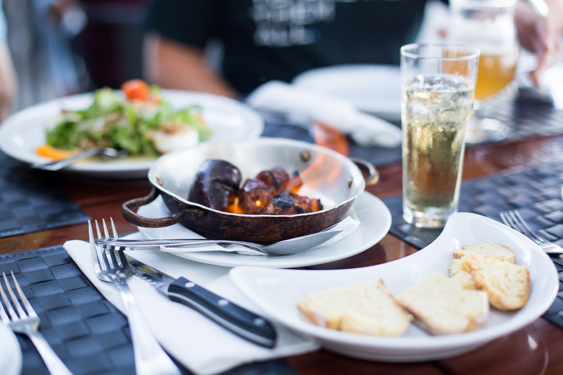 Portuguese cuisine, dinner table in Portugal