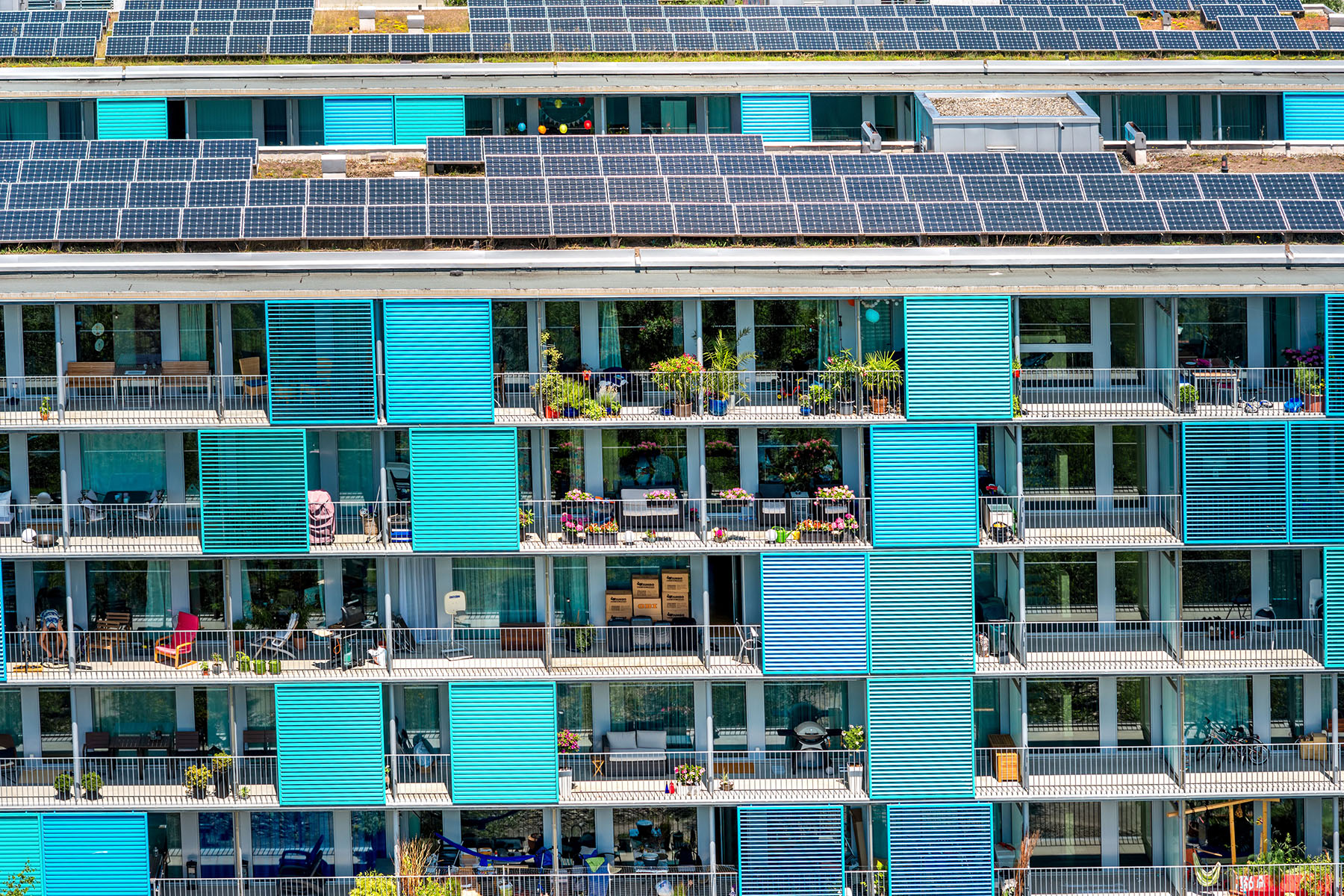 Apartments with solar panels in Zurich