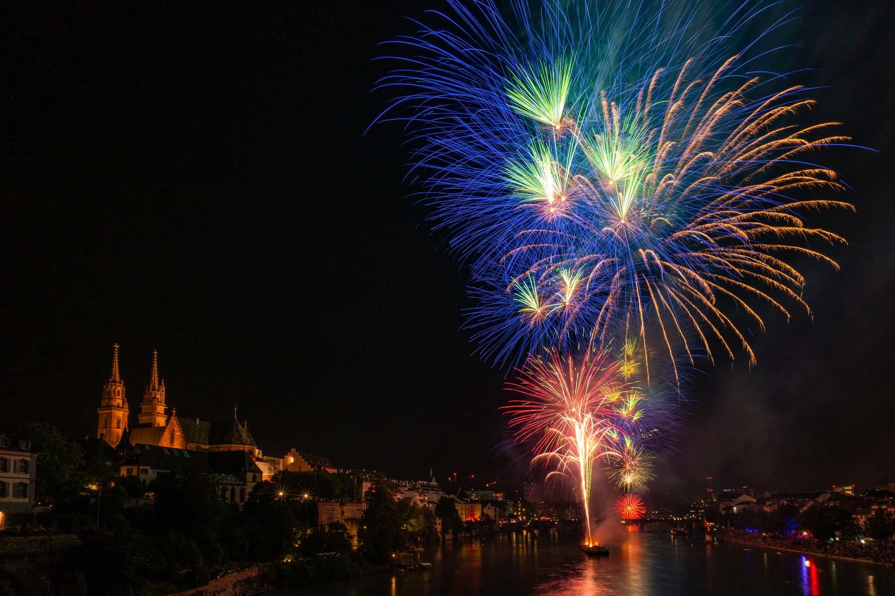 Fireworks on the Rhine