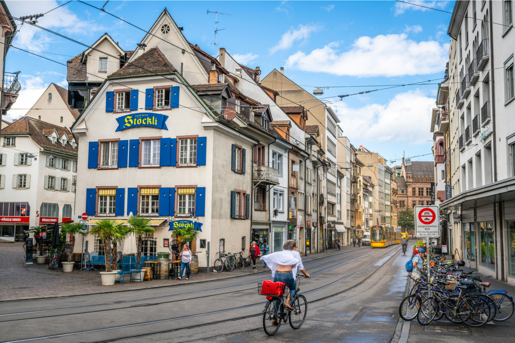 A street in the city center of Basel