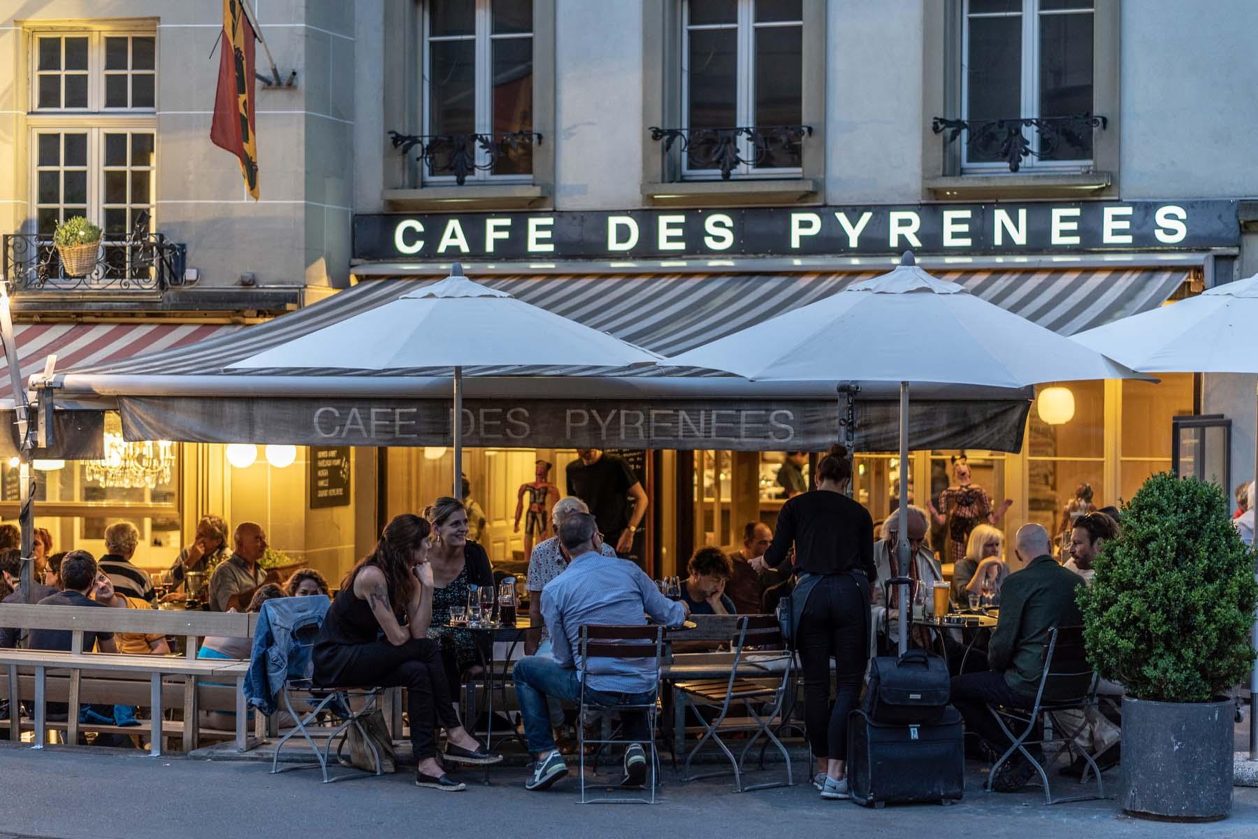 cafe in Switzerland