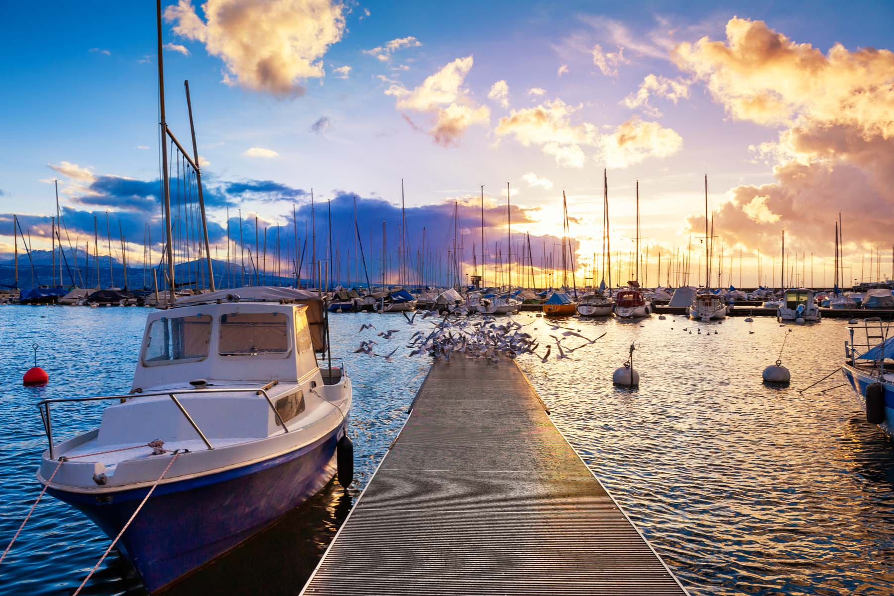 boats in Lausanne