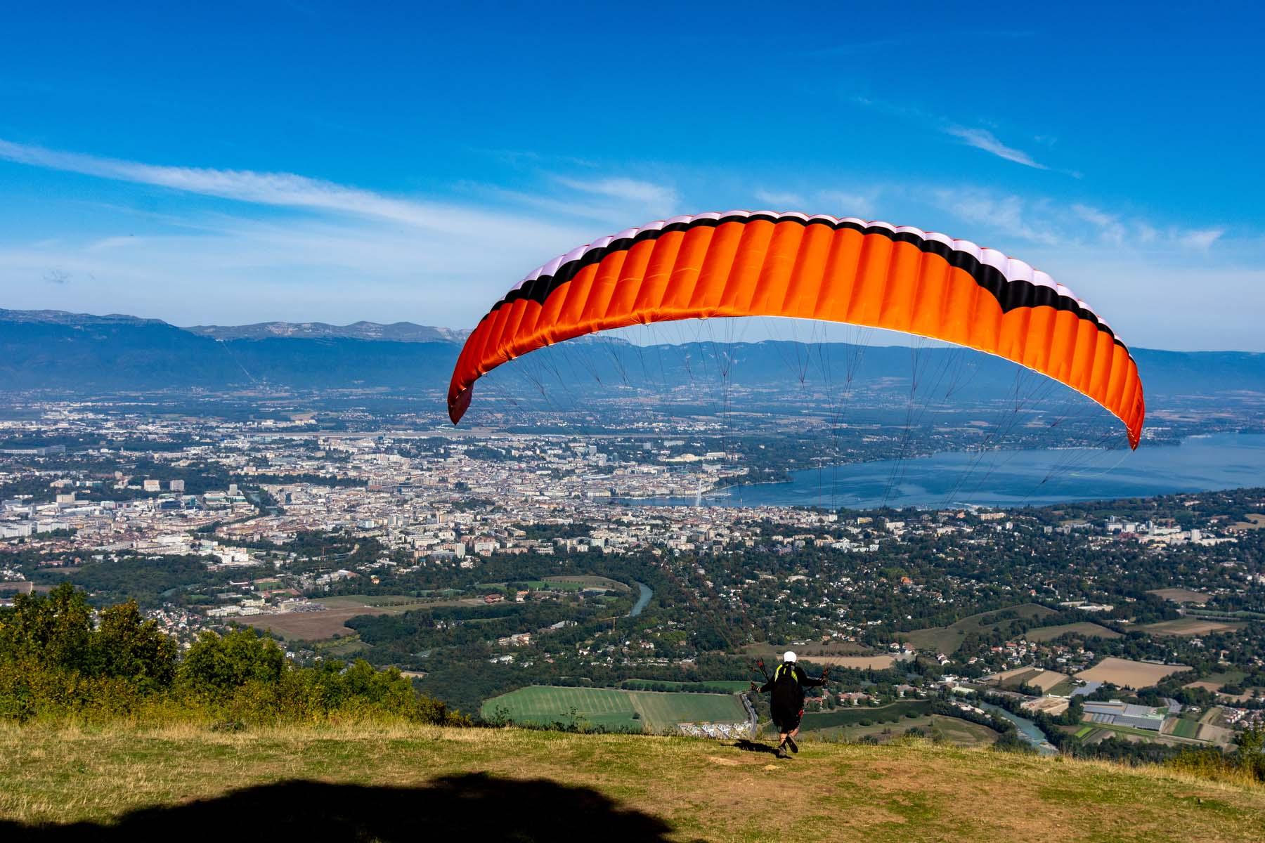 paragliding in Geneva