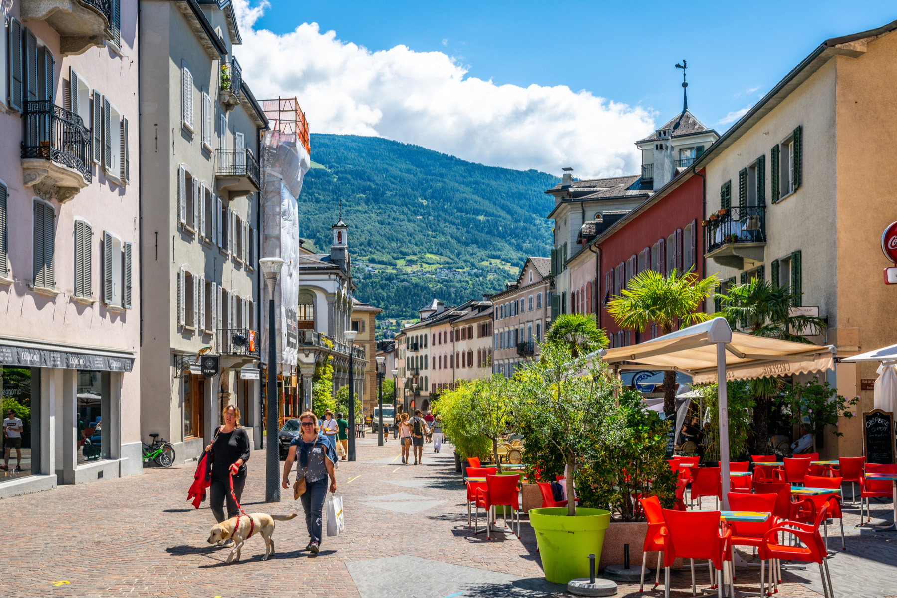 The city center of Sion