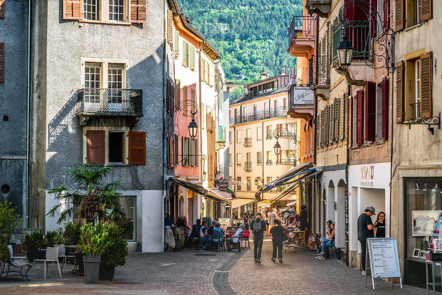 Sion, the capital of Valais