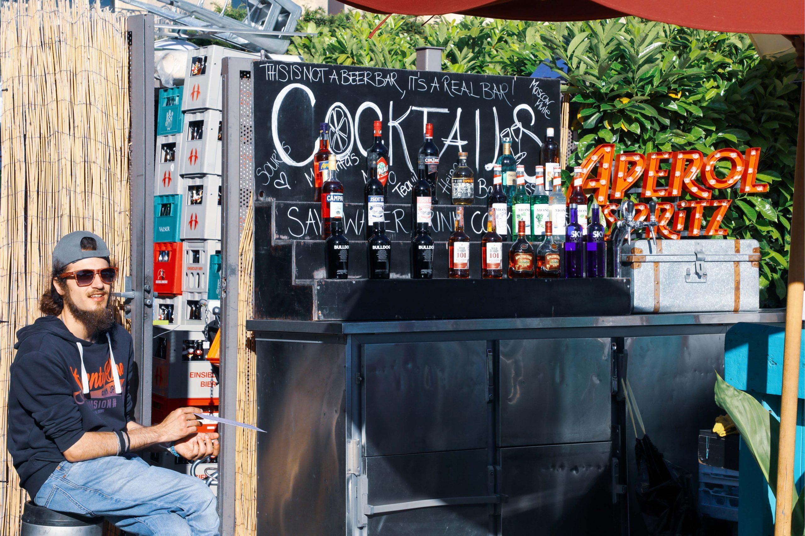 outside bar in Switzerland