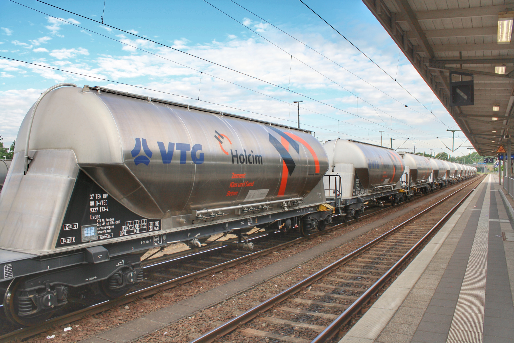 Holcim cement tanks train car owned by Swiss billionaire Thomas Schmidheiny