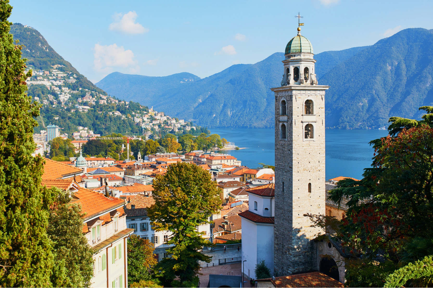 The old town of Lugano