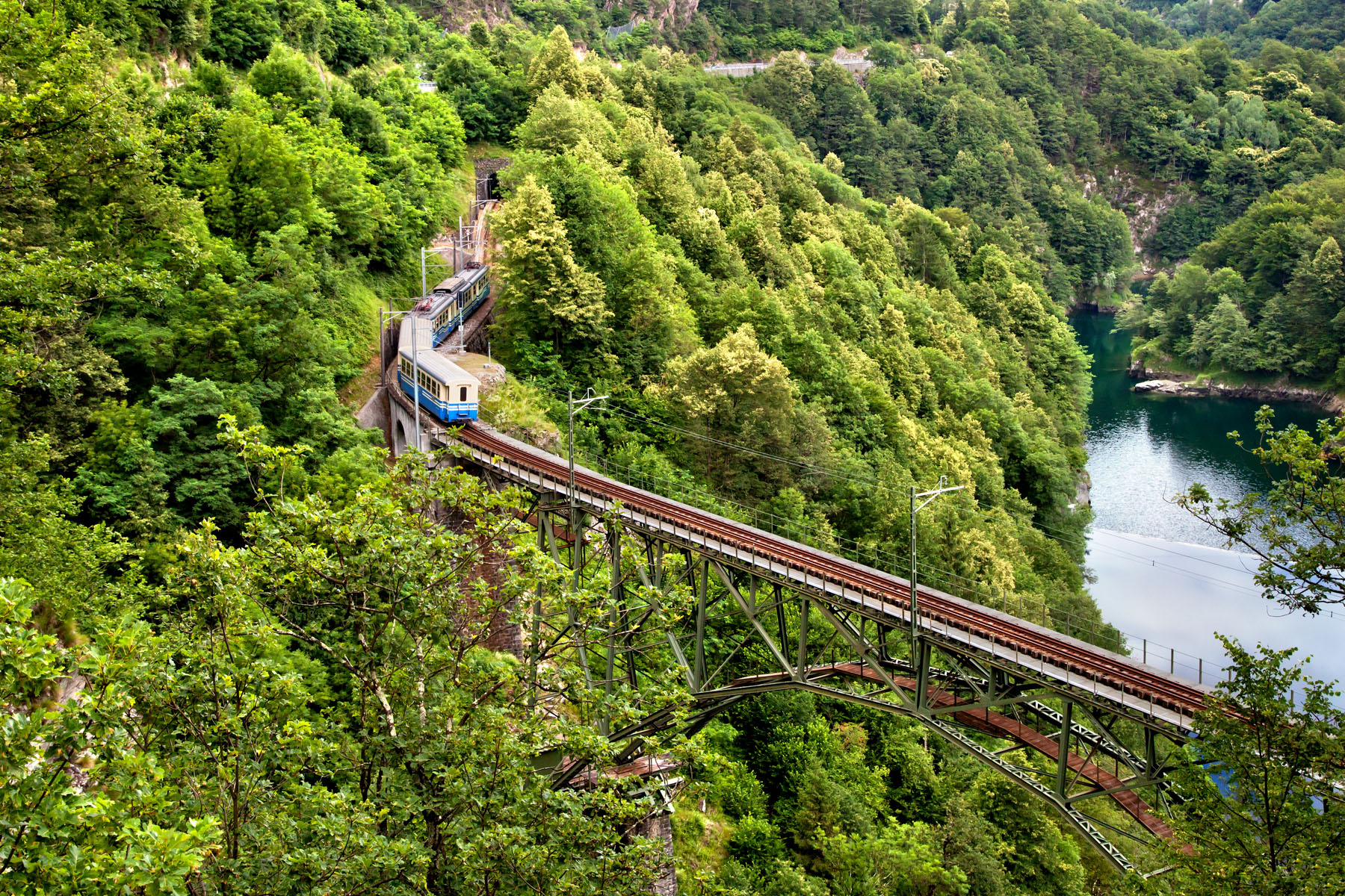 A train near Locarno