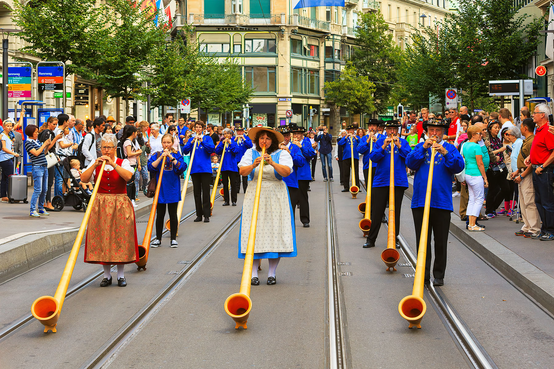 Swiss National Day parade in Zurich