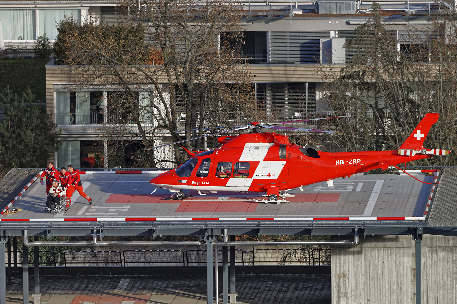 An ambulance helicopter in Switzerland