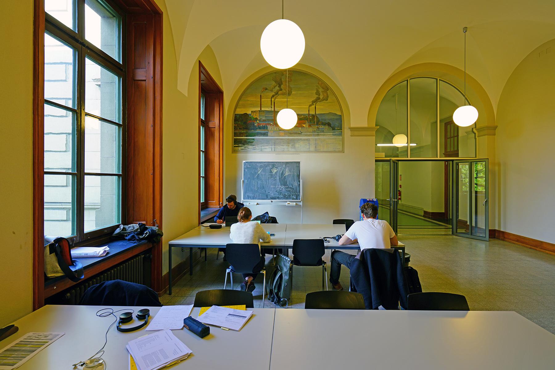 A study area at ETH Zürich