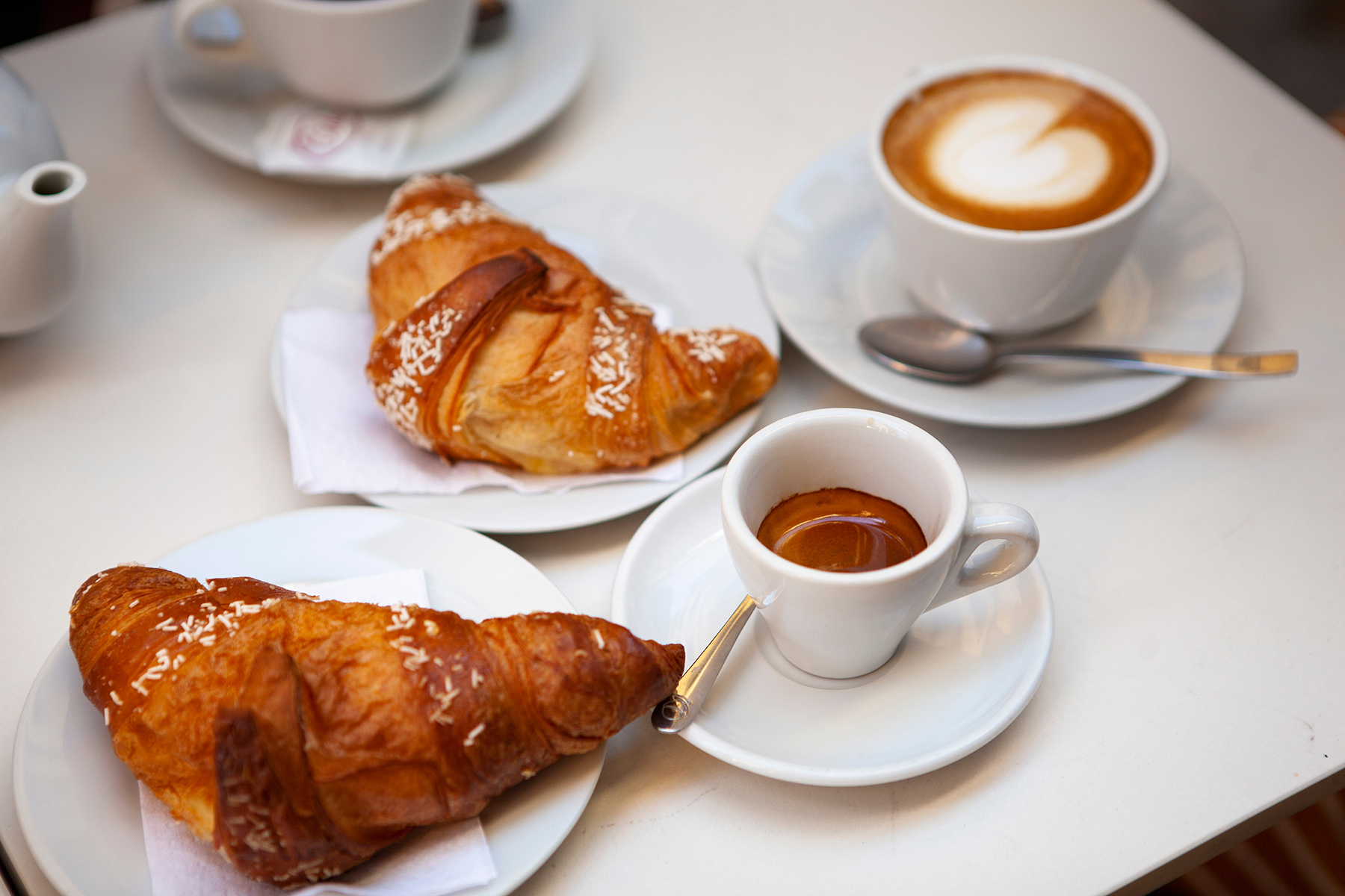 swiss diet: Gipfeli and coffee