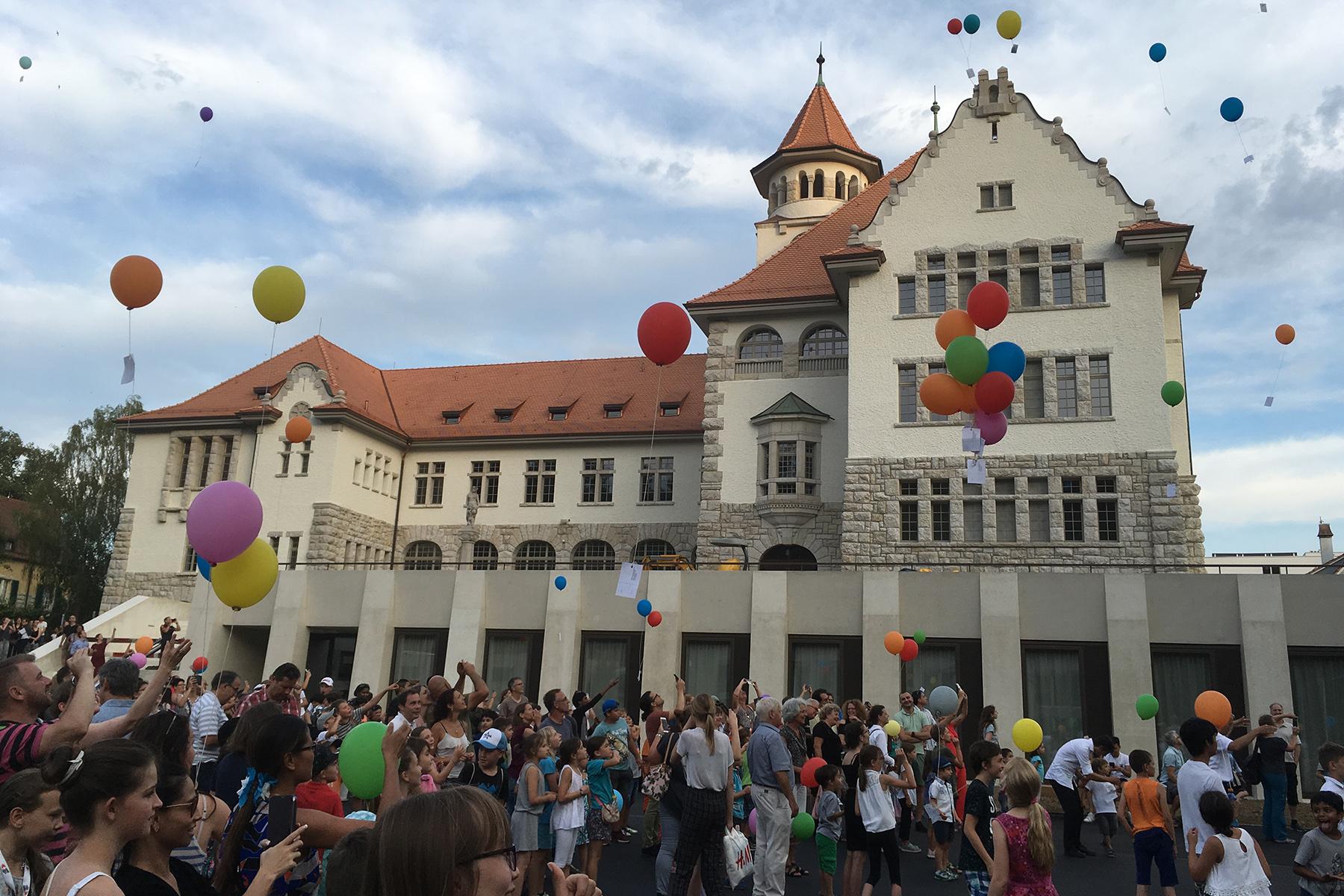 Jugendfest at a school in Brugg