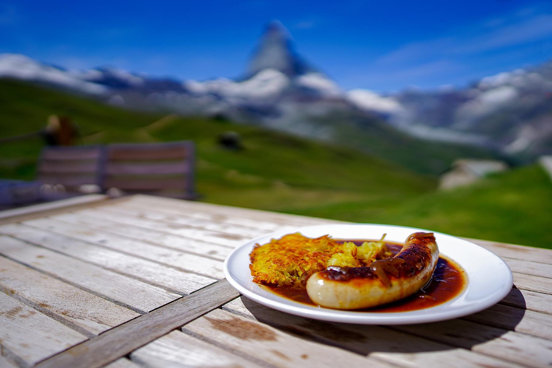 Rösti with sausage