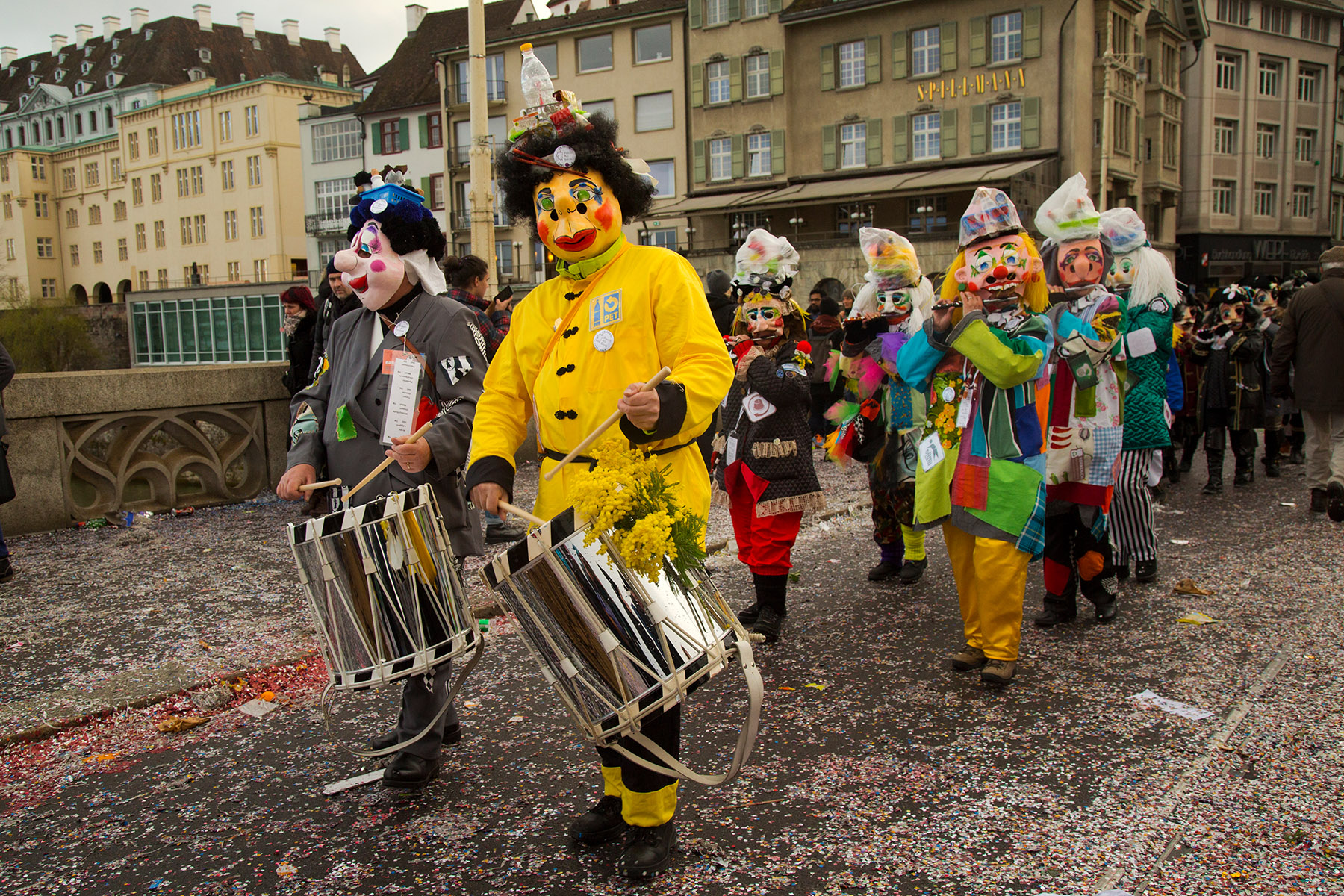 A Swiss Carnival parade in Basel