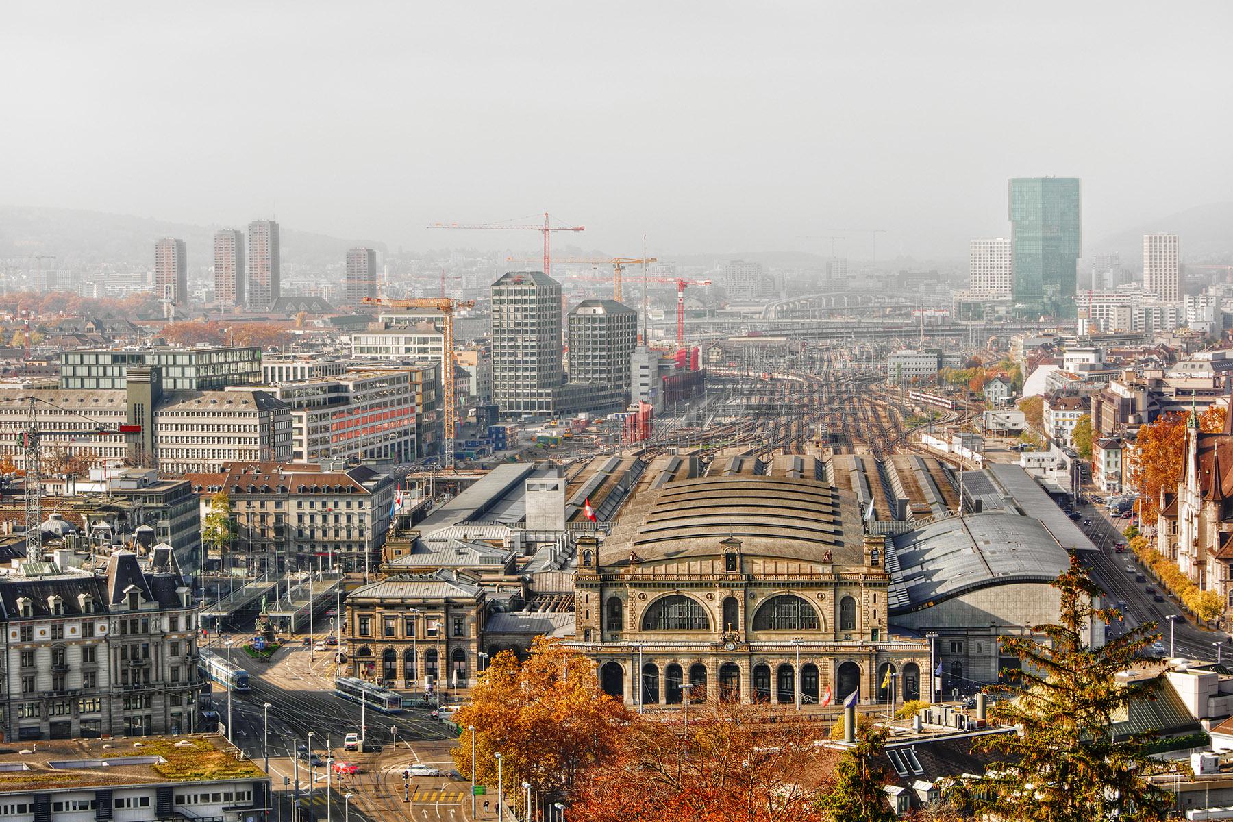 The skyline of Zürich