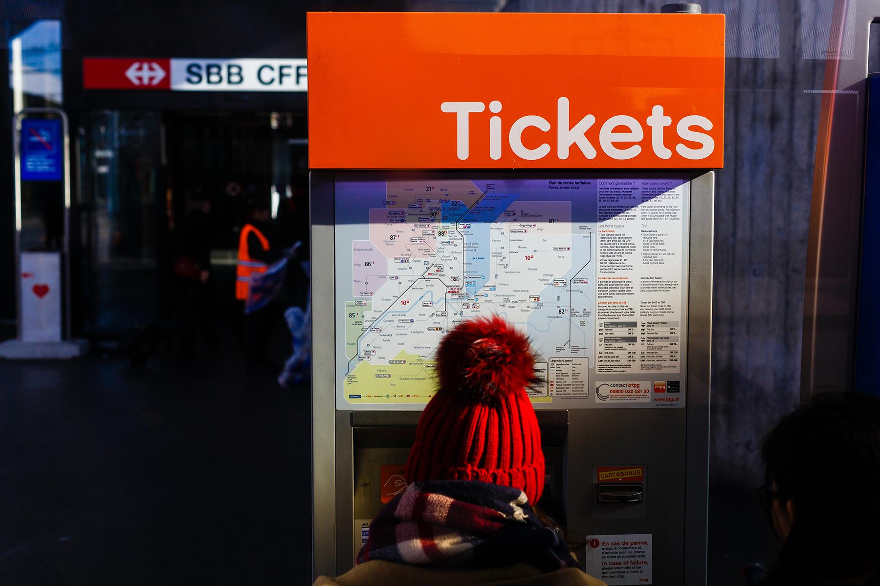Geneva ticket machine