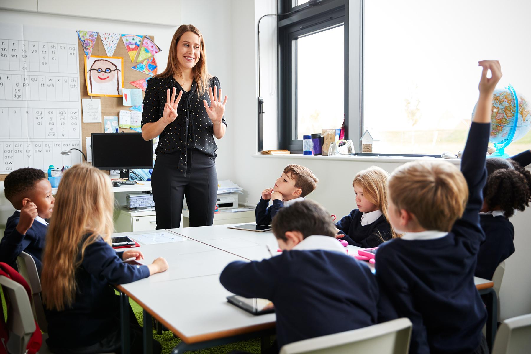 Swiss boarding school classroom