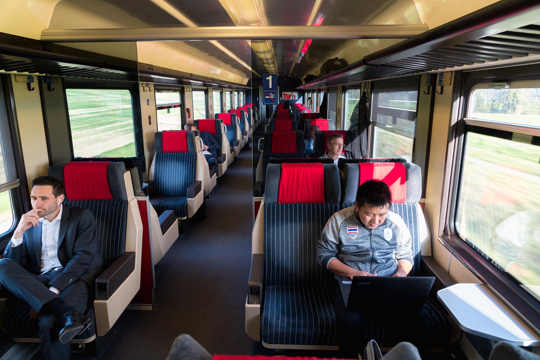 Commuter train in Geneva