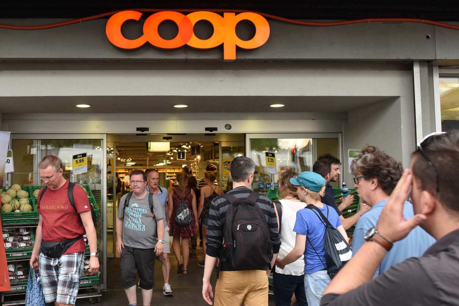 busy coop swiss supermarkets