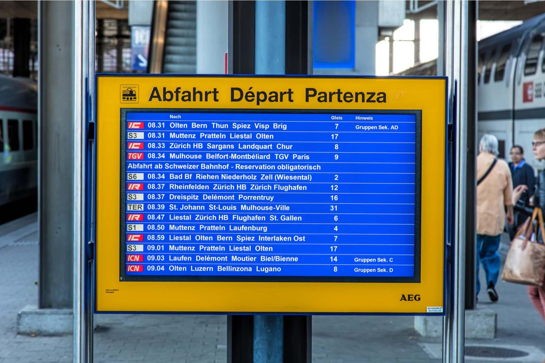 international trains in switzerland