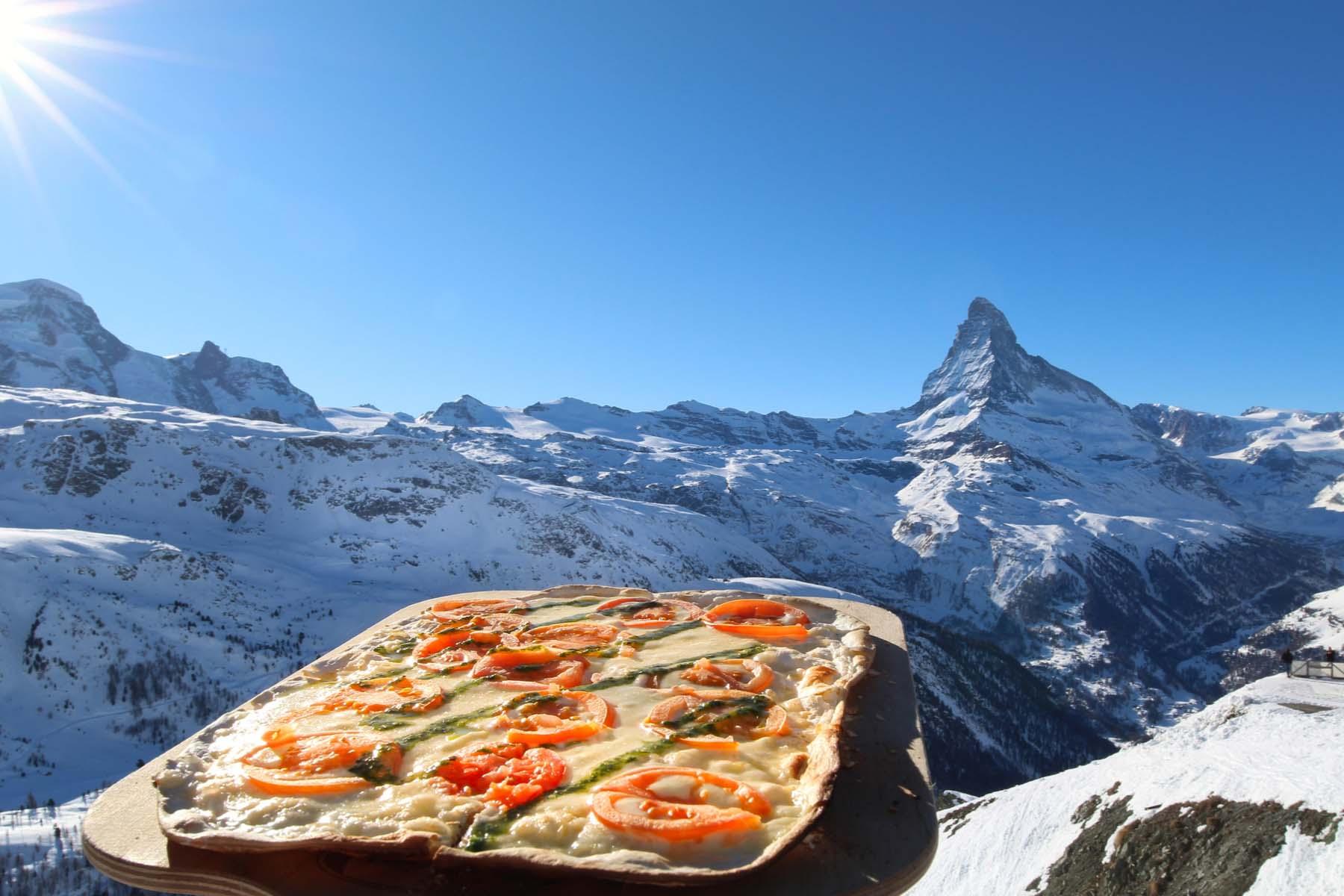 pizza swiss mountains