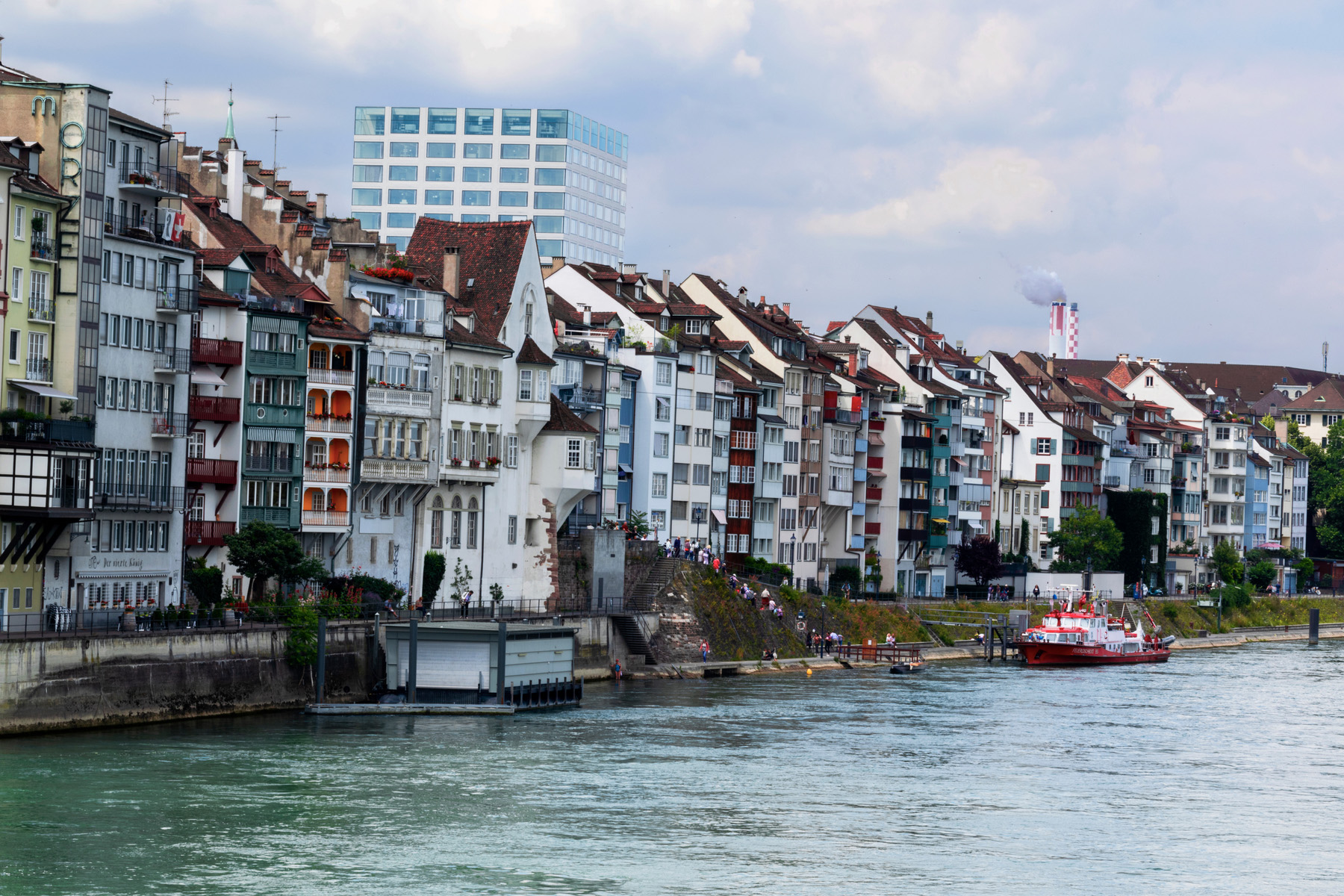 Riverside apartments in Basel
