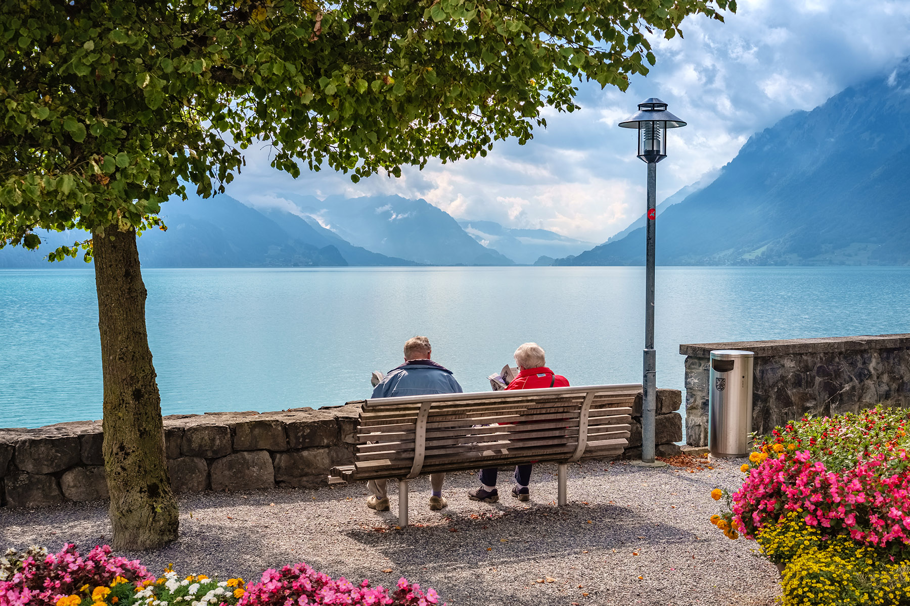 Elderly couple in Brienz