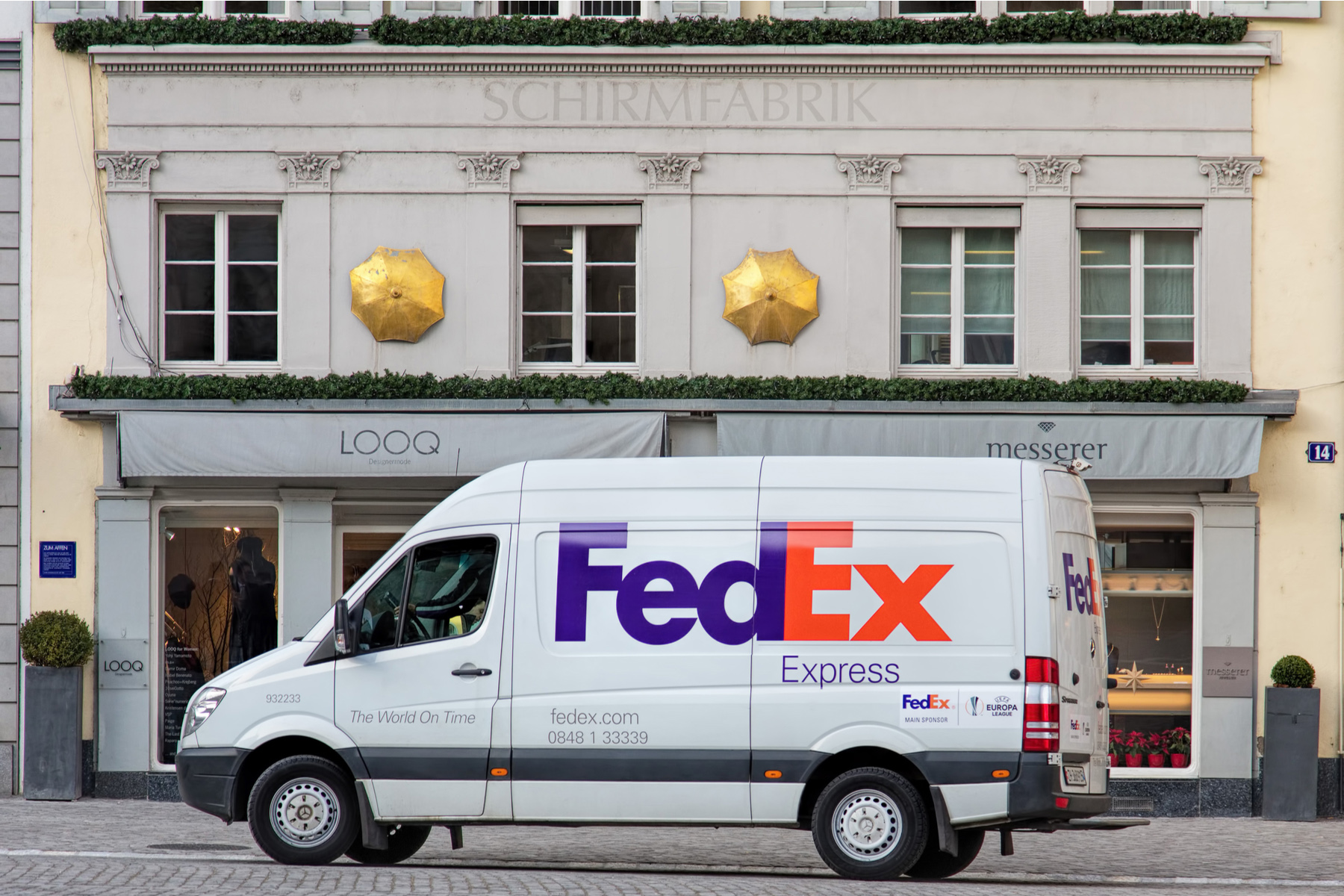 FedEx van in Zurich