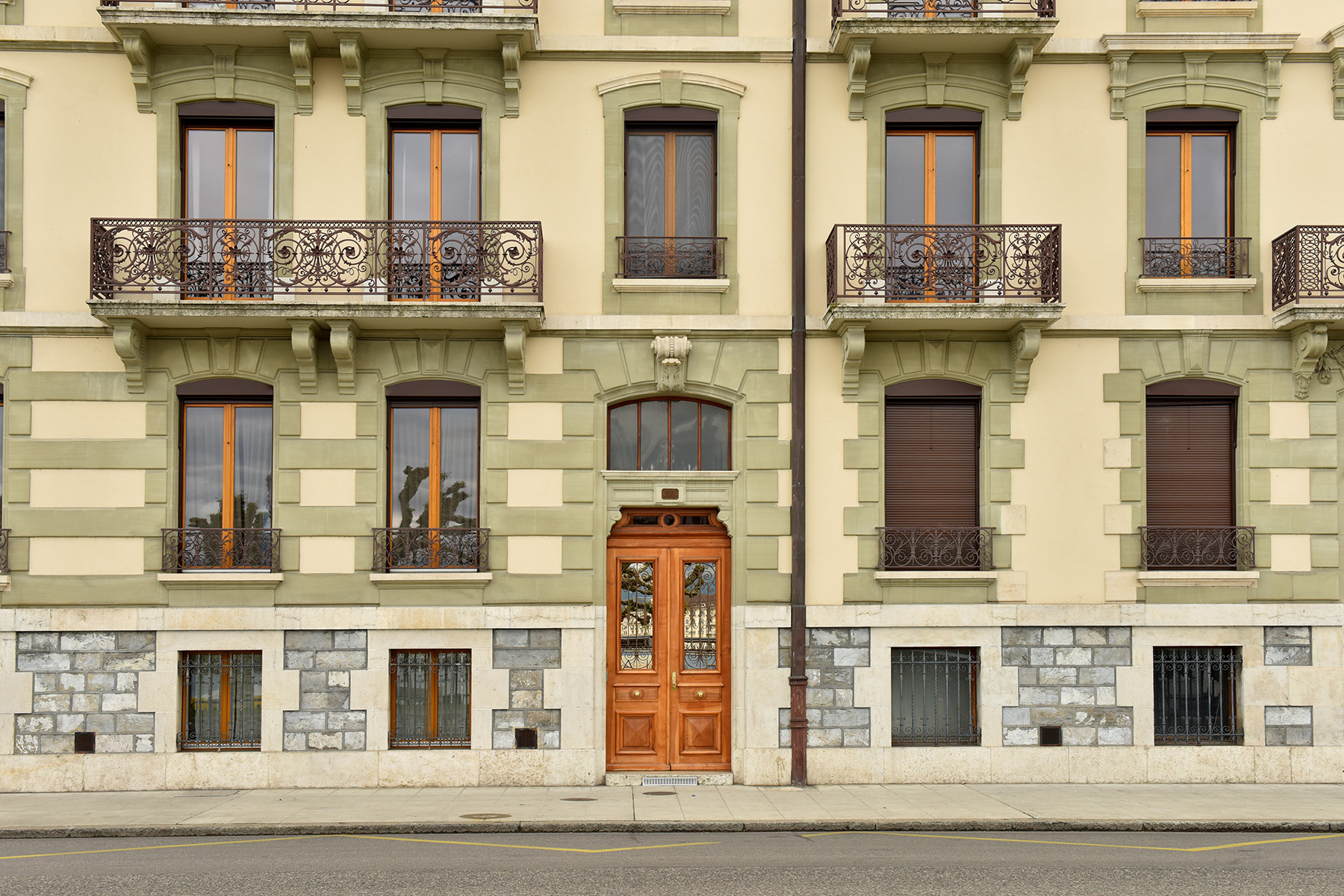 Typical old apartments in Geneva