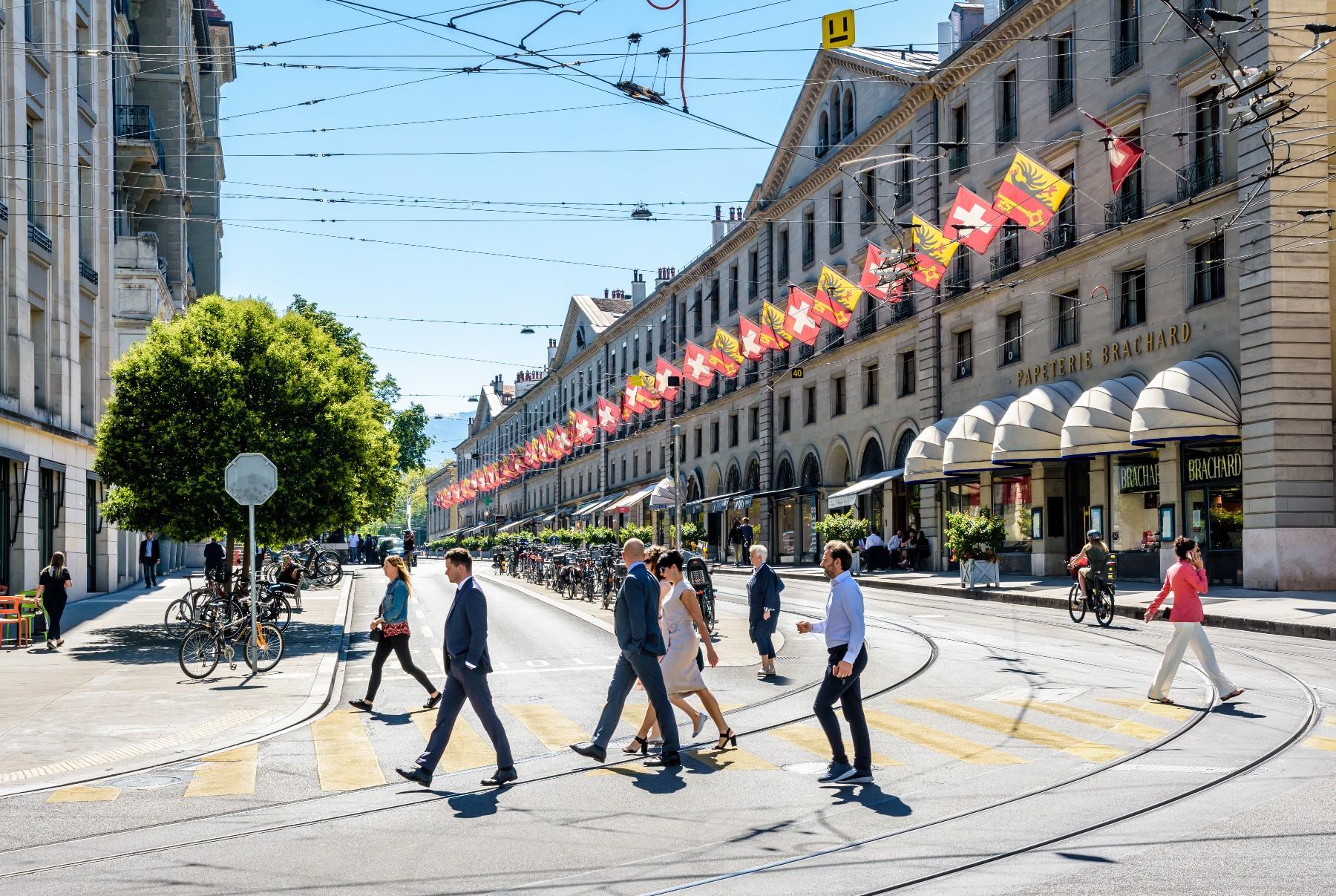 Geneva banking district