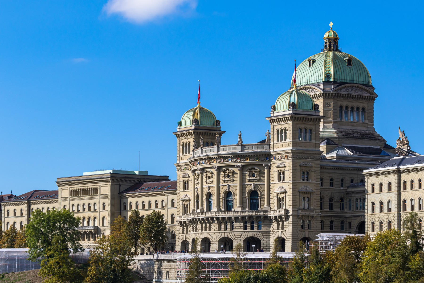 exterior of Switzerland Parliament building