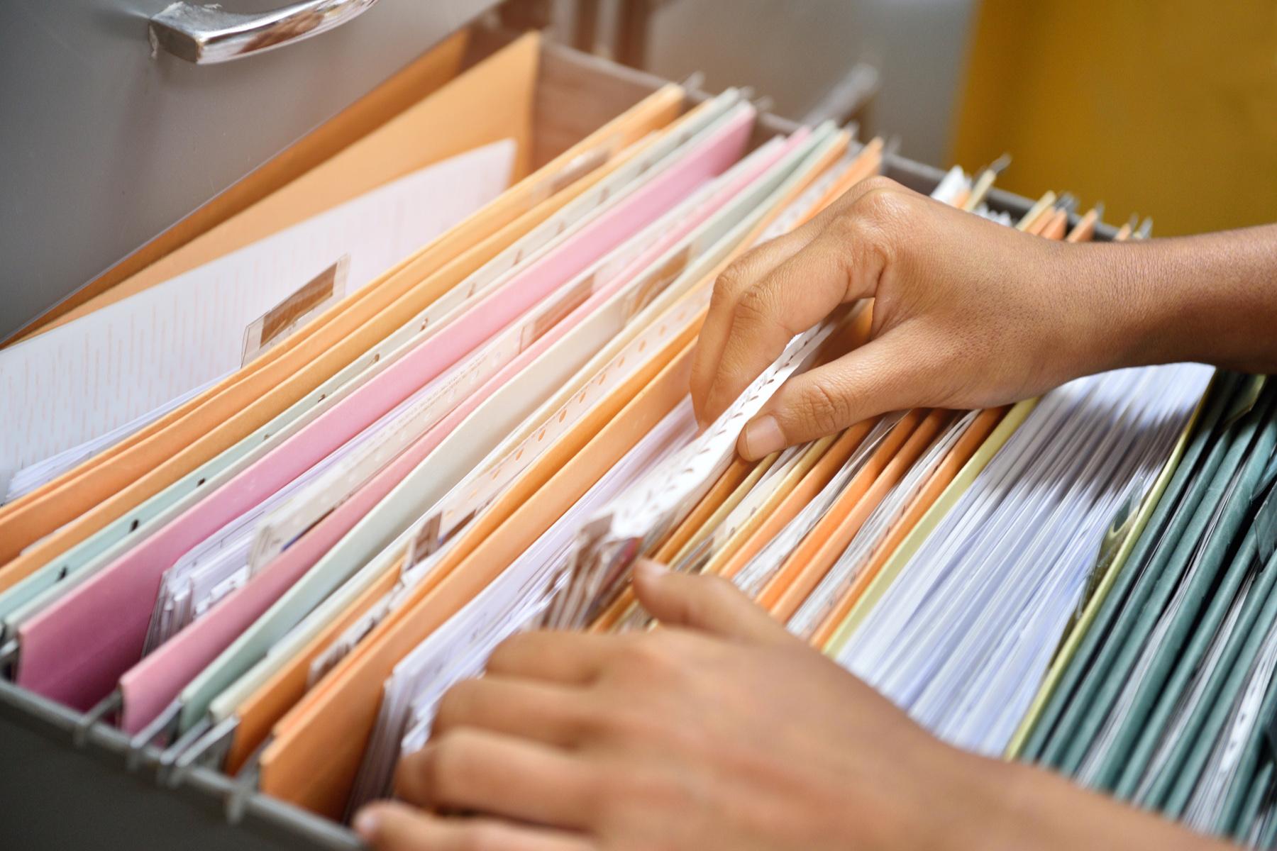 Filing paperwork