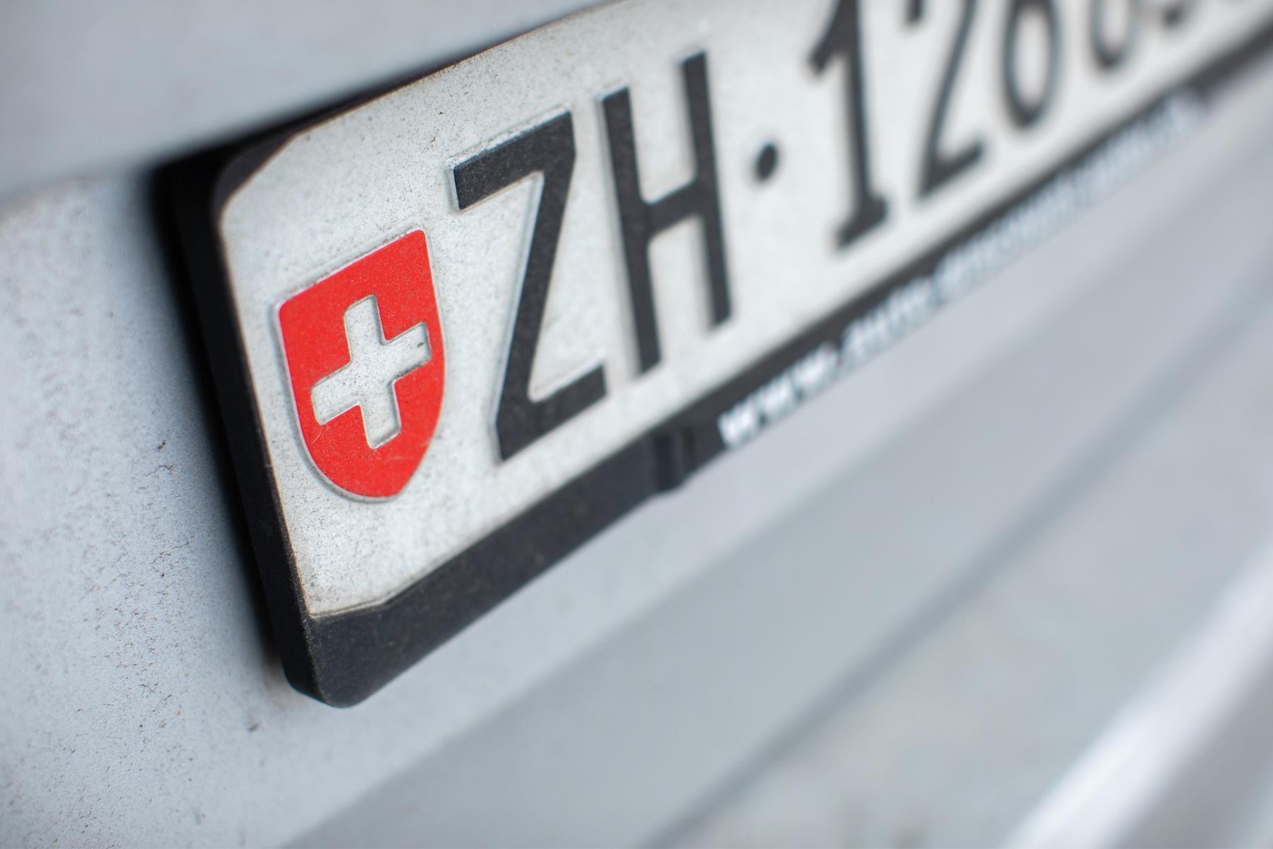 Swiss license plate