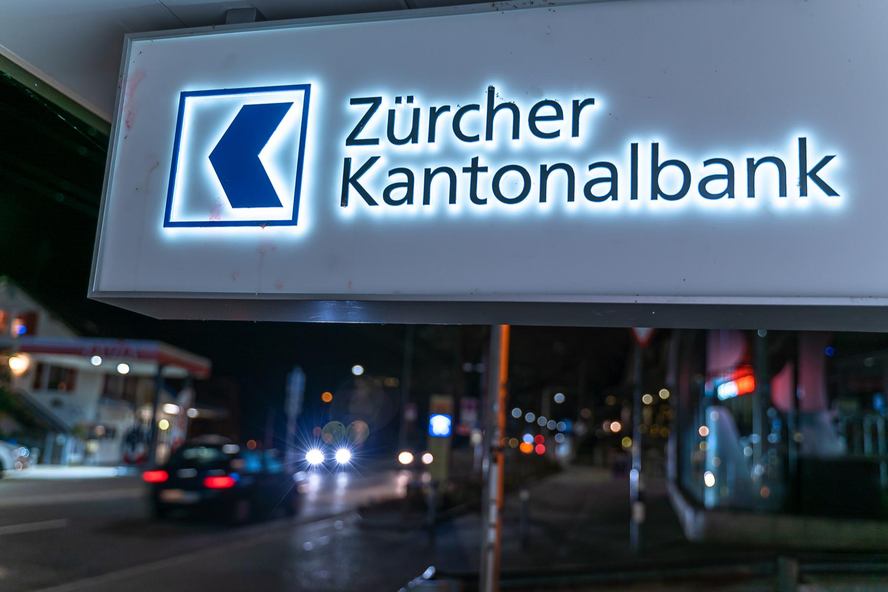 Zürcher Kantonalbank sign