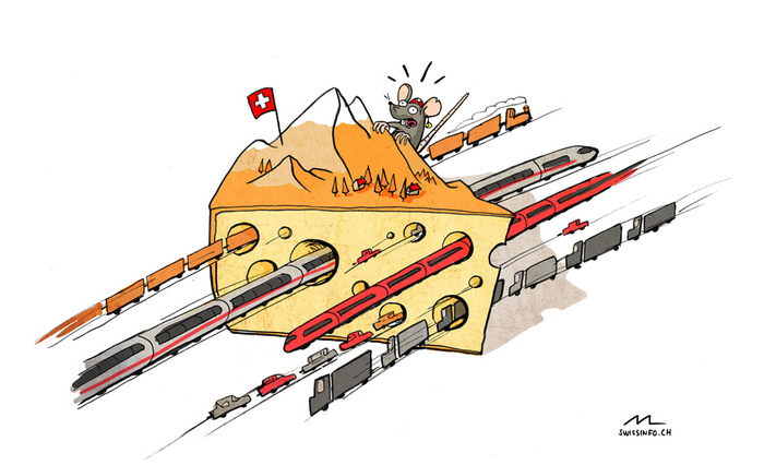 Swiss cartoon