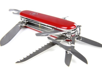 Swiss Army knife morphs with age