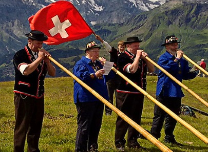 Yodelling in the new year, Swiss style