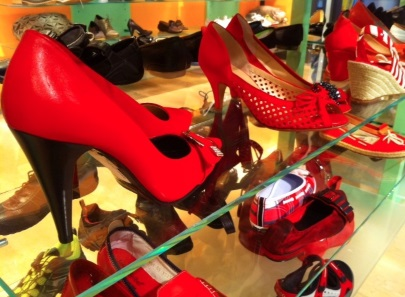 Diccon Bewes: Red shoes everywhere...