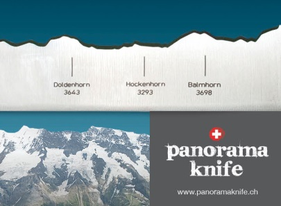 Newly Swissed: Find Swiss mountains in your panorama knife