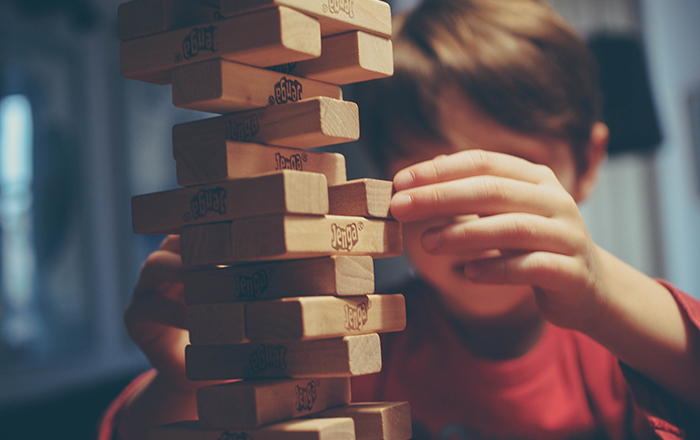 Boy with Jenga