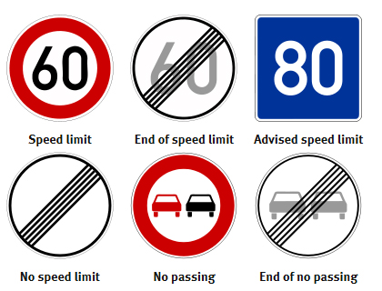Driving Signs in Autobahn