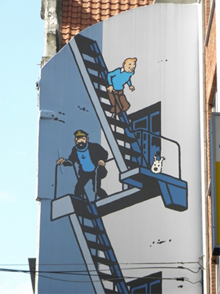 Comic murals in Brussels