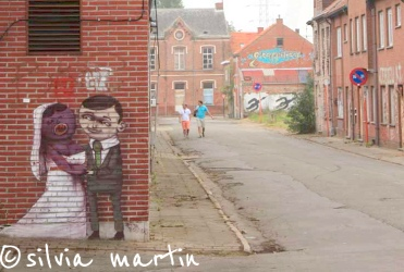 Graffiti artworks in Doel, Belgium