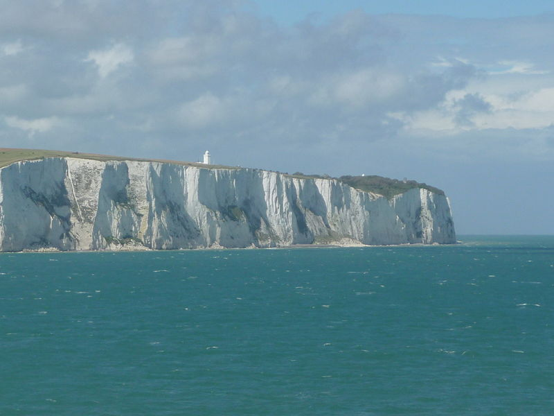 White Cliffs of Dover in England