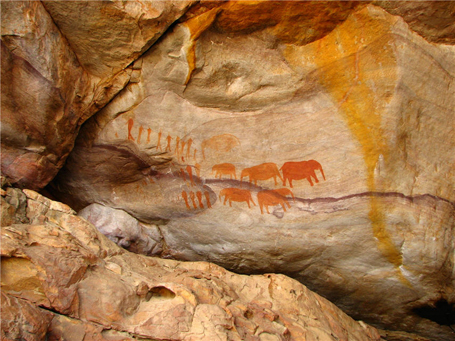 San Bushmen Rock Art near Stadsaal Cave in the Cederberg