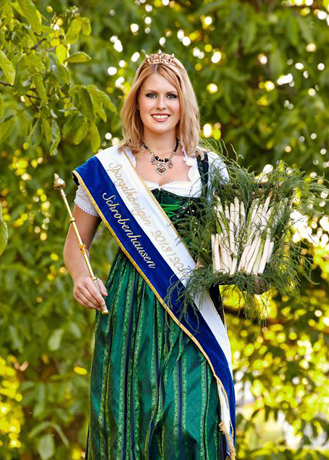 The Asparagus Queen from Schrobenhausen, Germany
