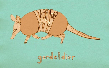 Gordeldier by Laura Frame